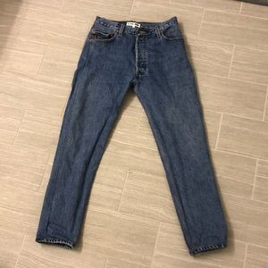 Re/Done Levi's High Rise Ankle Crop, Sz. 26